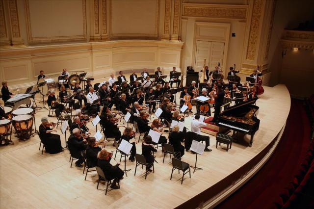 Everett Symphony on stage at Carnegie Hall