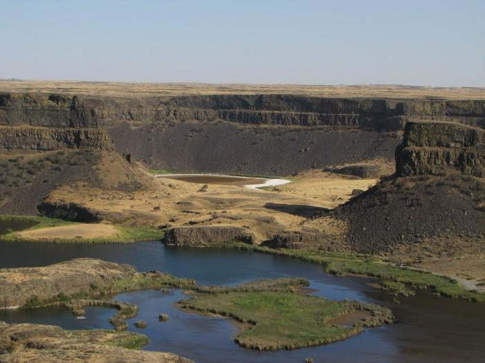 Potholes Reservoir, Eastern Washington-site of ancient flood