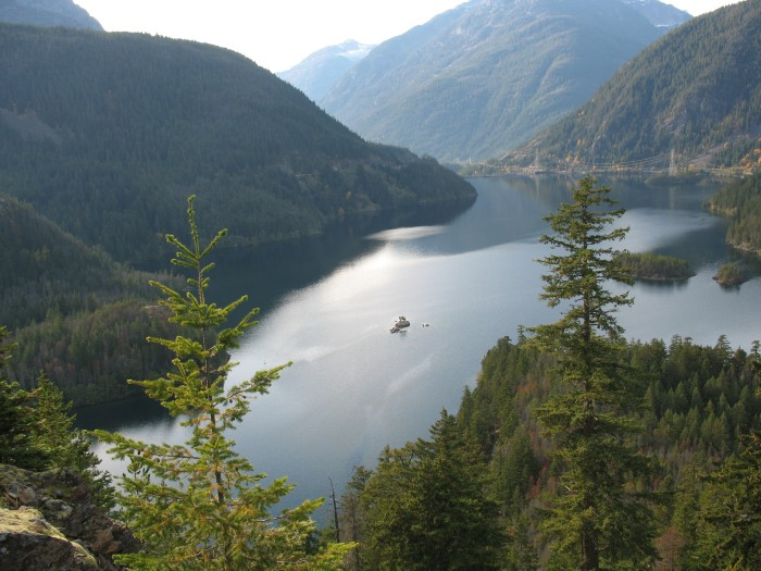 Diablo Lake from Overlook on Highway 20