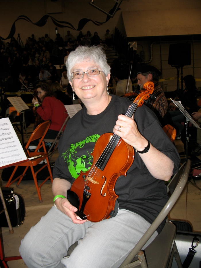 Myself and violin, helping set world record in 2010-largest string orchestra