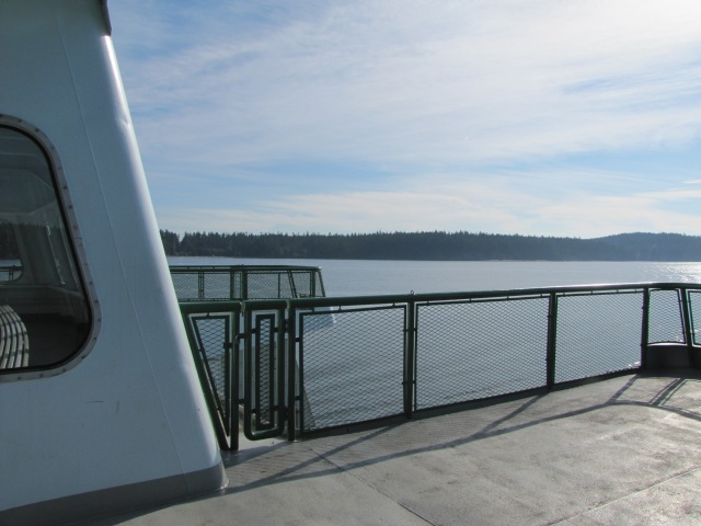 Deck of Washington State Ferry