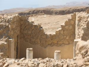 Walls and room, Masada, Israel