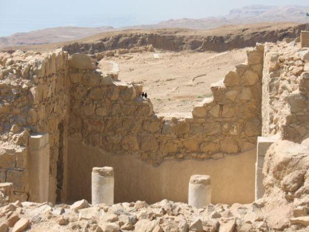 Walls and room, Masada, Israel