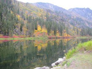 Fall Colors on the Wenatchee River, west of Leavenworth, WA