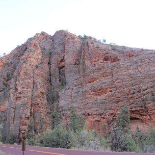 Red rock cliff, Zion National Park, Utah