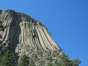 View of Devil's Tower National Monument, Wyoming.