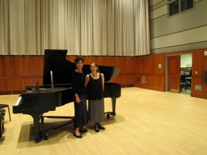 Pianists Karen and Cheryl