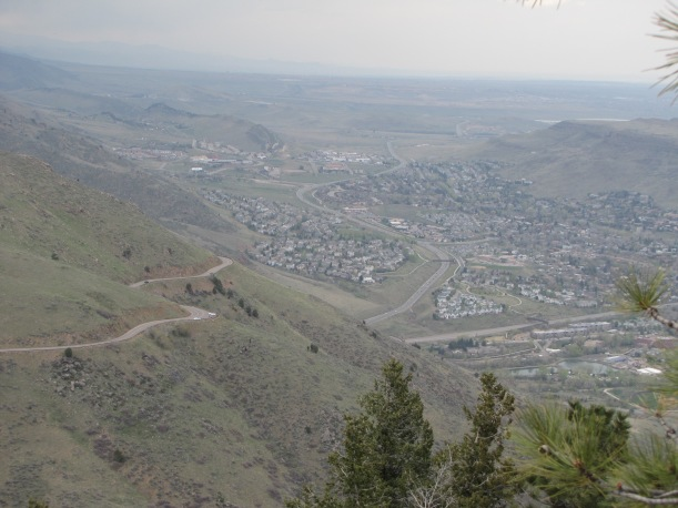 Golden CO, from Lookout Mountain, Denver