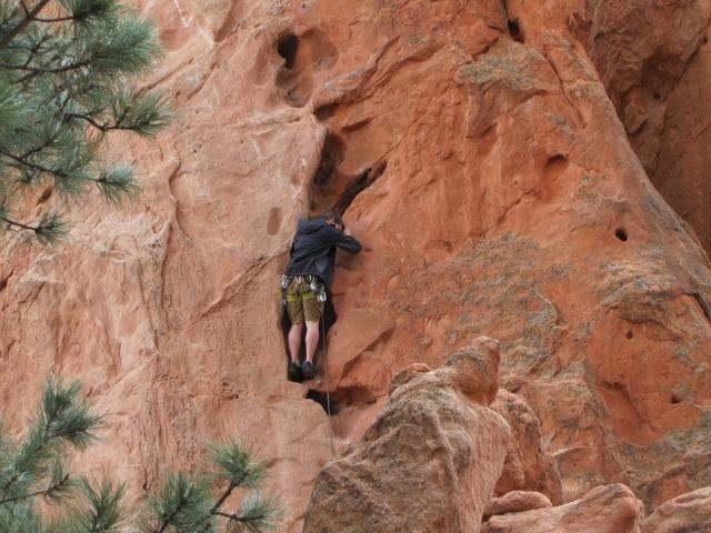 Rock climber, Garden of the Gods