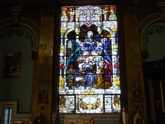 Stained glass window, St. Joseph's Polish Catholic Church