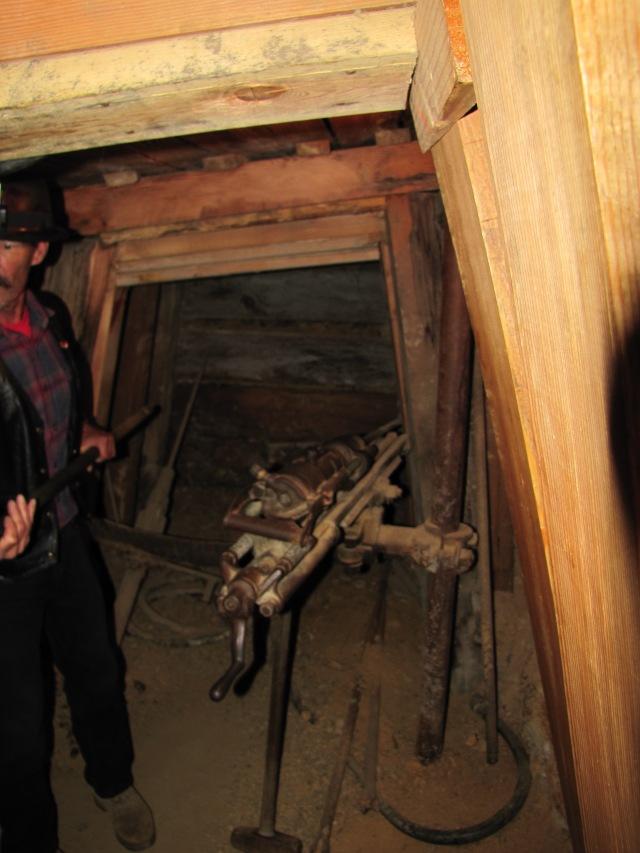 Hydraulic drill at abandoned mine-Virginia City