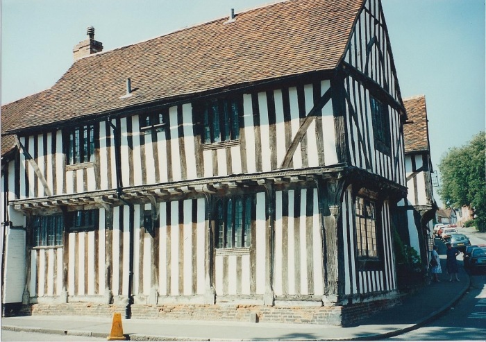Building in Lavenham, wool town in Suffolk