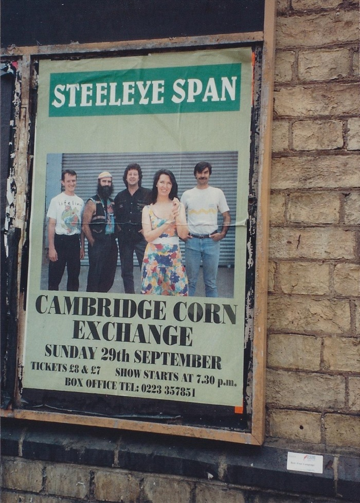 Poster, seen on downtown building in Cambridge, Summer 1991