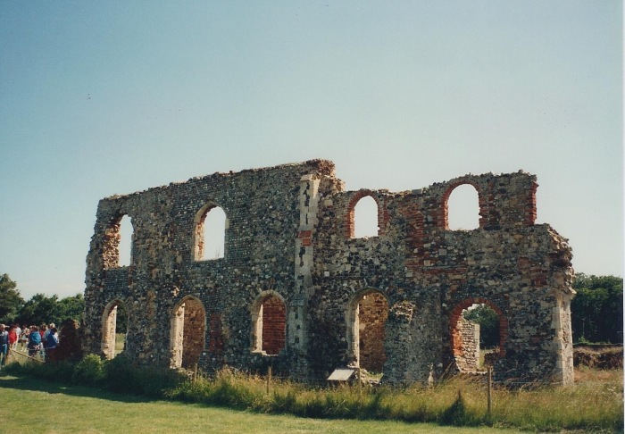 Greyfriars Abbey ruin, Dunwich, on the East Coast of Britain