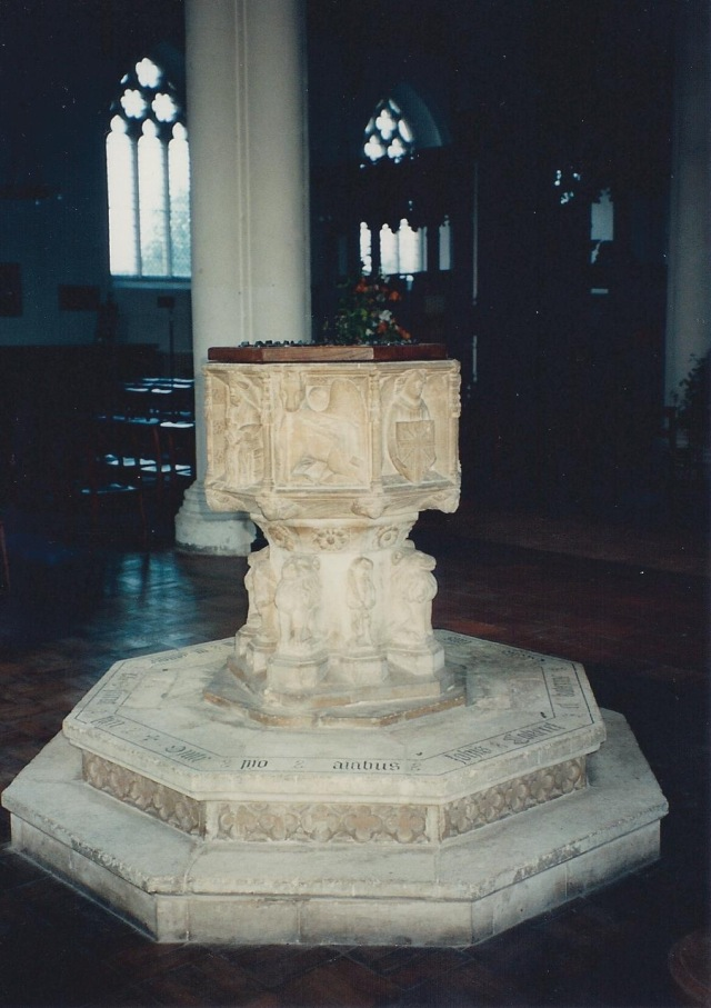 Baptismal font, Orford Church