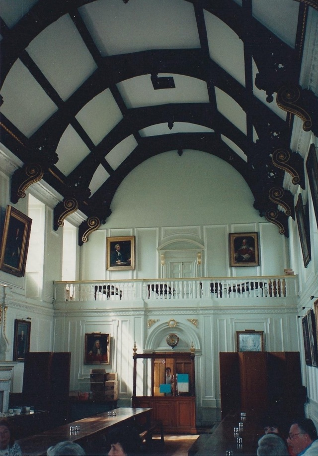 Dining Room at Trinity Hall College, where we stayed.