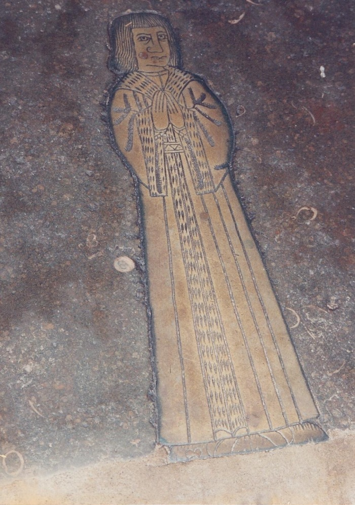 Brass representation of a priest, Orford Church