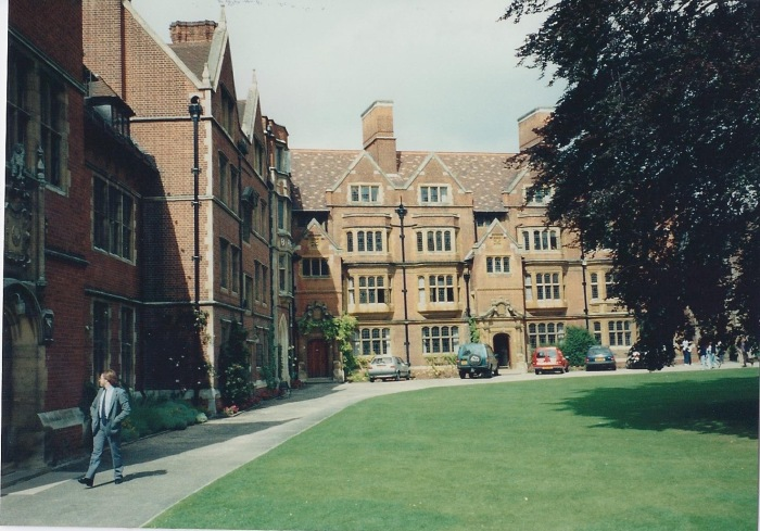 Rear entrance, Trinity Hall.