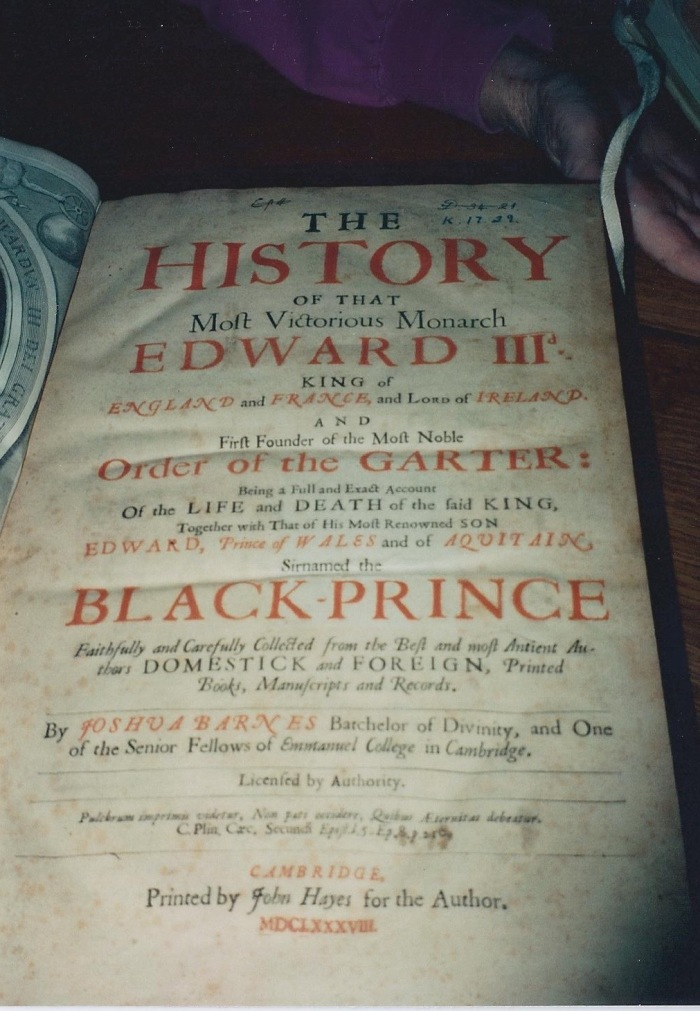 Title page of a book found in the Library at Gonville & Caius College. Yes, the publication date is in the 1600s!