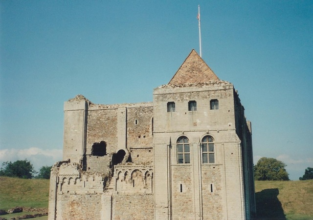 """Castle Rising. First intimation of """"pointed arch""""."""