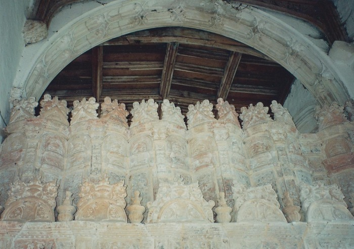 Terra cotta screen, Oxburgh Hall Chapel