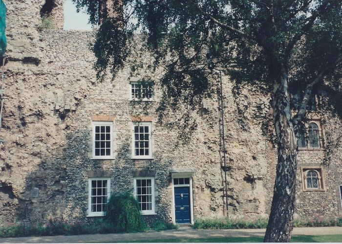 House, built into the ruins of the abbey at Bury St. Edmunds, Ely