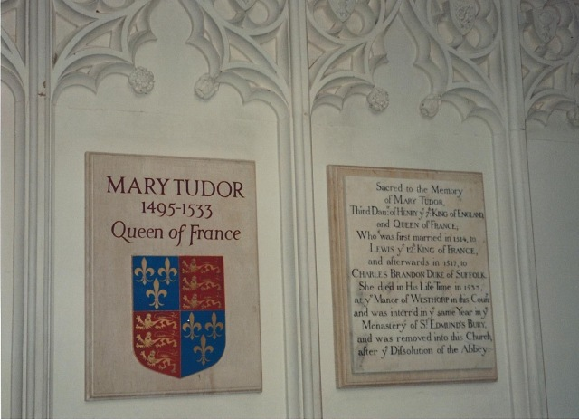 Tomb of Mary Tudor, moved to Oxburgh Hall following the dissolution of the monasteries by Henry VIII