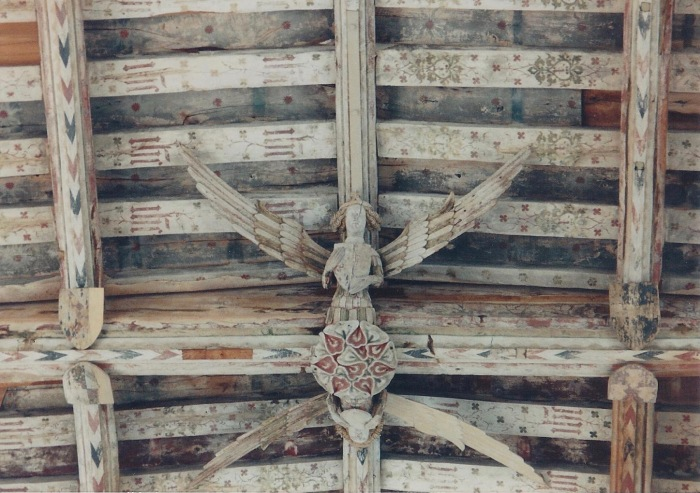 Ceiling detail, Blytheborough, beautiful angels