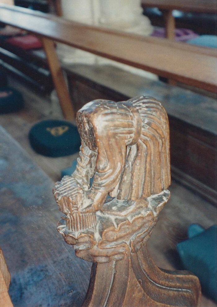 Agriculture, pew carving, Blytheborough Church