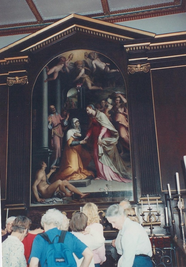 Painting in the Trinity Hall Chapel