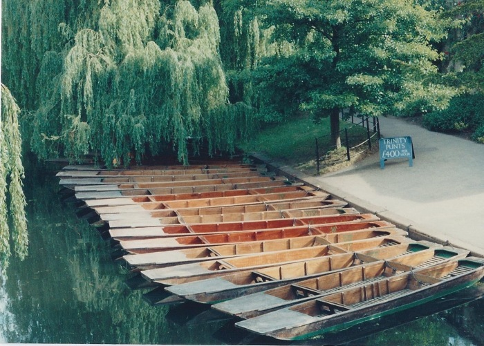 Punts on the Cam, rentals from Trinity College