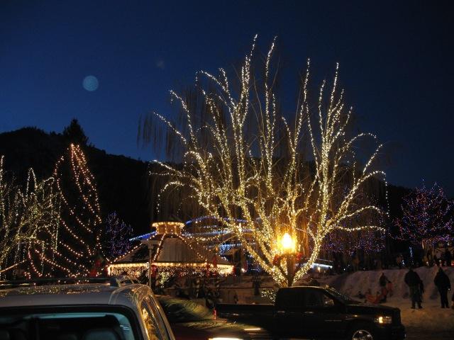 Lighted trees