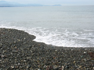Rocky beach, Dungeness National Wildlife Refuge