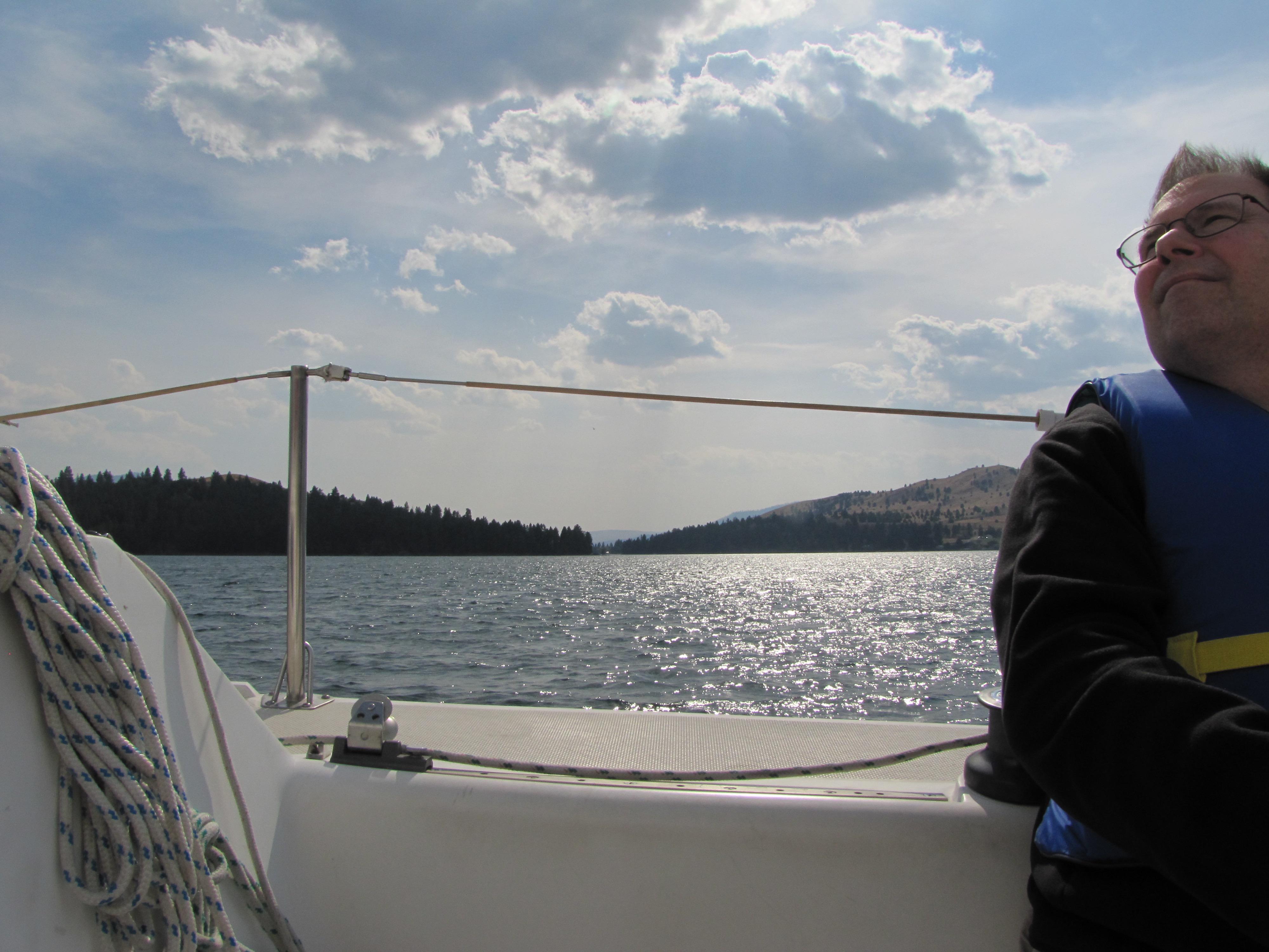Sailing on Flathead Lake