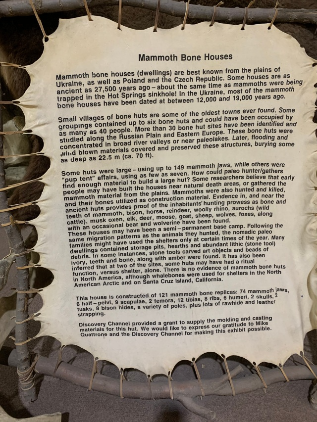 Mammoth bone house sign
