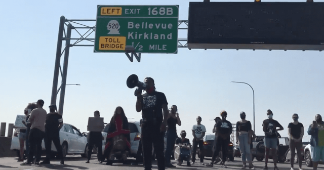 blocking freeway