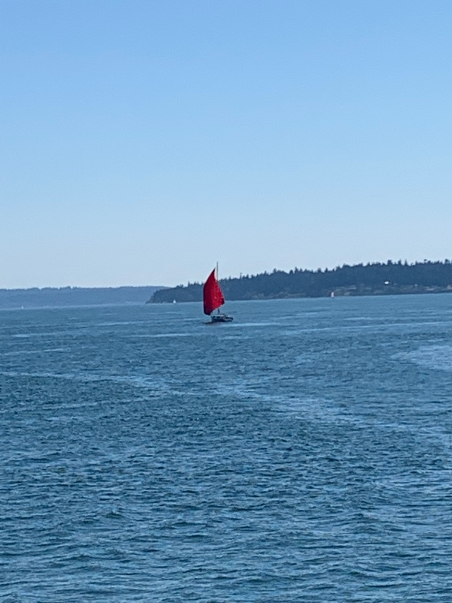Sailboat-red sail